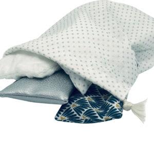 Coussins sensoriels Montessori – Blanc
