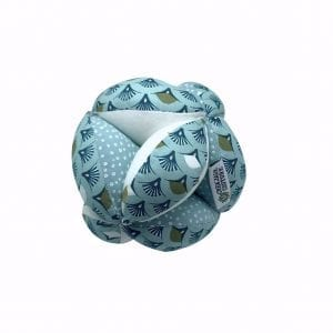 Balle de préhension Montessori –  Bleu Eventail