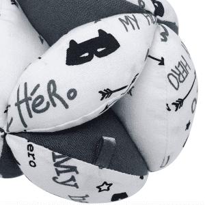 Balle de préhension Montessori –  Blanche My Hero