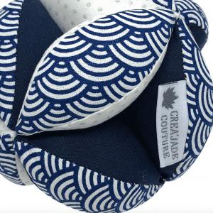 Balle de préhension Montessori – Bleue Vagues