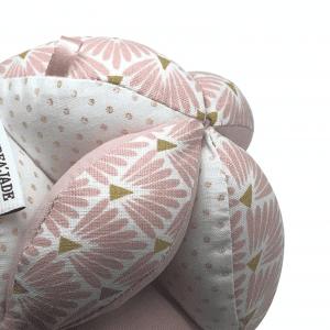 Balle de préhension Montessori – Rose Losanges