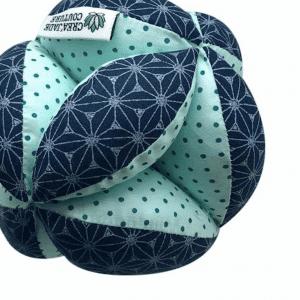 Balle de préhension Montessori – Bleue Asanoha