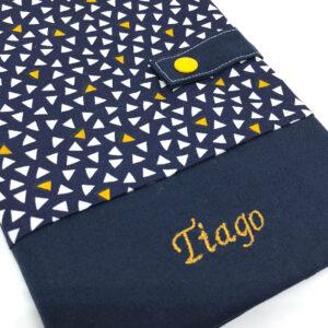 Protège carnet de santé personnalisé – Bleu Tiago