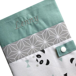 Protège carnet de santé personnalisé – Vert Lenny