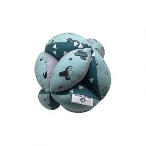 Balle de préhension Montessori –  Bleu cactus