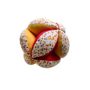 Balle de préhension Montessori –  Rouge Confetti