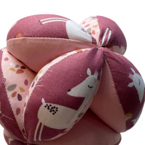 Balle de préhension Montessori –  Rose Faola