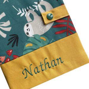 Protège carnet de santé personnalisé – Vert Nathan